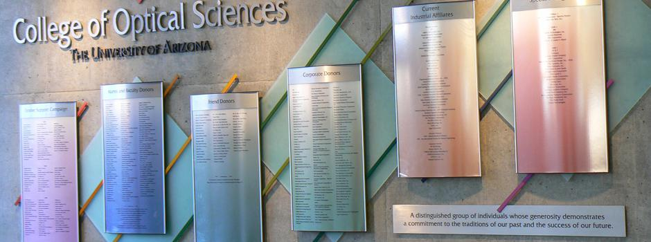 OSC Meinel Building Donor Wall