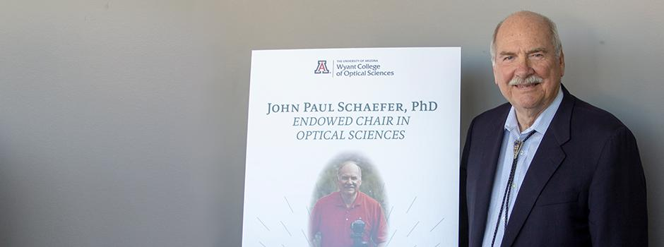 UA President Emeritus, John P. Schaefer's name has been added endowed faculty ch