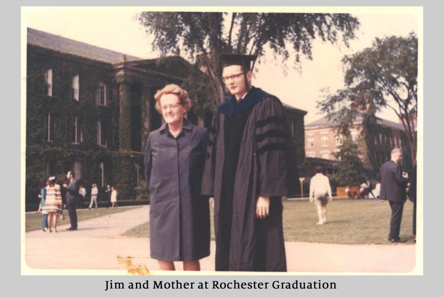 Jim And Mother At Rochester Graduation