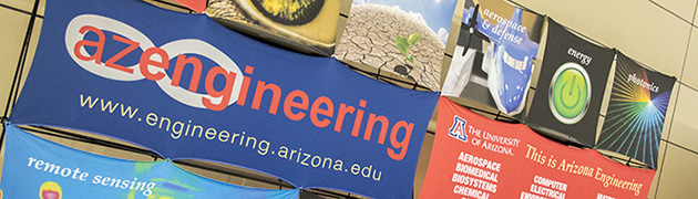 An Arizona Engineering conference backdrop sets the stage at the 2014 Engineering Design Day