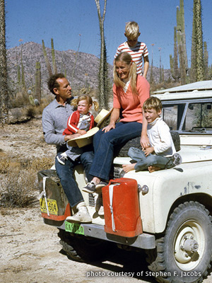 Stephen F. Jacobs in Baja, Mexico with his family