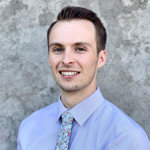 Ryan Hamilton, recipient of the 2019-2020 Outstanding Teaching Assistant award from John Koshel