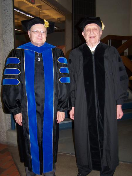 Jim Wyant and Roy J. Glauber (right)