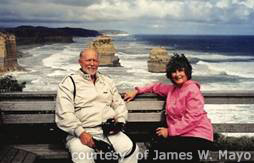 Jim and Linda Mayo on the Great Ocean Road, New South Wales, Australia