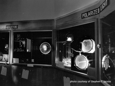 Stephen Jacobs' optics display within the Optical Sciences Center, Tucson, AZ